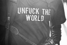 """Un-Fuck the World""(◐.̃◐)    Warning we say fuck a lot! / Limit UP TO THREE  pins A DAY -  This is a fucking awesome board so if you are offended by the word fuck then move on, don't report! Fucking hate doubles!  ""Unfuck the world"" is by invitation only."