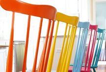 Retro Brights / A combination of retro colours, creating a real statement interior