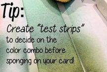 tips {tricks & tutorials} / Quick & Easy Stampin' Up! tips to help make your cardmaking & DIY projects easier.