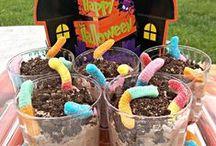 Halloween Treats / Halloween, October, Treats, Recipes, Cookies, Ghosts, Trick or Treat, Food, Delicious, Holidays, Kids, Classroom