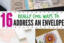 diy {font art} / Tips & tricks to make the inside of your cards & the outside of your envelope look as pretty as the card it envelopes!