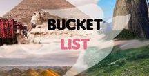 Bucket List / Mes envies de voyage, d'expériences, de découvertes !