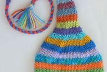 using scrap yarn