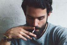 Eye candy / #beautiful #hot #eyecandy #goodlooking #beard #longhair #cigarette #johnnydepp #jason #love #followforfollow #follow4follow