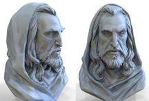 bust,faces - men / kámen,bronz,hlína a podobné mat,