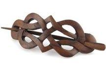 jewelry - brooches / dřevěné náramky, brože a spony
