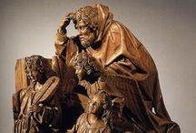 Carving in history - group / staré dřevořezby, skupiny, reliéfy a pod.