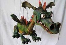 marionettes - animals / zvířata a pod.