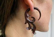 jewelry - carrings / dřevěné náušnice a pod.