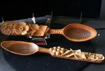 wooden spoons II - ornament / dřevěné lžíce rostlinný motiv nebo ornament