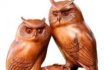 Carving - owls / noční ptáci