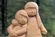 Carving - children / řezby dětí