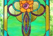 stained glass / for my landing window (and poss bathroom) / by wilma coburn
