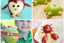 Cute Kids Snacks / Here are tons of healthy ideas to make cute snacks for kids!