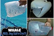 Milk Jug Kid's Crafts / Make amazing crafts out of a recycled empty milk jug!
