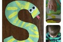 Alphabet Crafts for Kids / Teaching children their alphabet through art projects and learning activities.