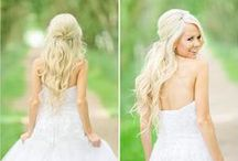 Wedding Half Up Half Down Hairstyles / Here are some ideas for half up half down hairdos for wedding day!
