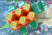 Egg Carton Crafts for Kids / Here are lots of crafts for kids using recycled egg cartons!