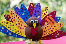 Thanksgiving Crafts for Kids / Here are some fun craft ideas for kids at Thanksgiving time!