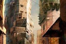 Concept Art Settings / Inspiring architecture and place designs by people.