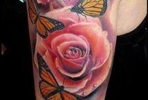 Flores, folhas, florestas, plantas - Tattoo