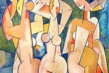 Henk Zweerus (1920-2005) / De kunstenaar en het publiek namen kennis van de in hun ogen, extreme werken:het modernisme werd geboren. Amsterdam verkeerde in de toestand van een culturele aardverschuiving, met Sandberg en het Stedelijk Museum als epicentrum. Zweerus stond er middenin, tekende samen met Constant Canadese soldaten op het Rembrandtplein om aan geld te komen. En leerde via Constant weer Appel en Corneille kennen. Ook maakte hij kennis met mensen als bijvoorbeeld Wessel Couzijn, Pearl Perlmutter.