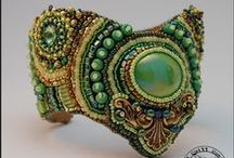 Bead Embroidered Bracelet / by Martha Foss