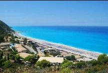 Lefkada / The Ionian Sea island with the white sand beaches and the turquoise waters.