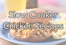 Slow Cooker Chicken Recipes / Let's slow things down and take time to let it simmer. The answer to what's for dinner can be found in your slow cooker. Now let's get cookin!  / by Gold'n Plump