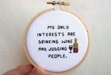 Cross Stitch City, Bitch / This is not your Granny's cross-stitch Pinterest Board, anyway... / by Janette Roche