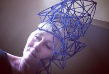Pipe cleaner hats / I make paper hats and pipecleaner hats Alyn Carlson Art+ Design