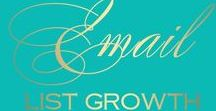 Email list growth / Email list growth strategies to help you achieve lots of real subscribers that are interested in your topics. My tips range from how to build your email list to what kind of newsletters to send.