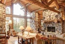 Log Home Decor / Beautiful, rustic design inspiration for your Log Home.