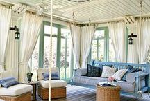 Porches / Covered or screened, a porch is a great way to extend your living space from inside to outside. Don't forget the accessories!