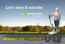 FreeCross Elliptical Bike / Introducing the FreeCross premium Elliptical Bike, Exclusively at Gym Source.