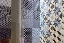 Patchwork and  Hydraulic tiles