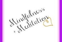 Mindfulness & Meditation / Ideas, tips and tricks for living a more mindful life. | Mindfulness, meditation, deep breathing, how to be mindful, mindfulness tips, journalling, anxiety, depression, coping with anxiety, essential oils, crystals, happiness, self-care, self-love, self-care tips