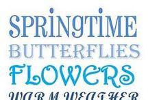 """""""Voorjaars blauw"""" / Prachtige voorjaarsbloemetjes in blauw/lila tinten."""