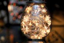 Luzinhas / Elas também são chamadas de Luzes de Fadas.