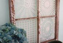 Toalhinhas de crochê emolduradas / Uma maneira de criar lindos quadros para sua casa