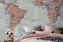 Mapas na Decoração / O mundo nas suas paredes e móveis
