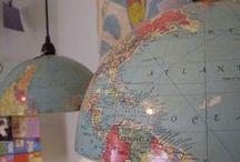 Globos / O mundo na decoração e nas mãos