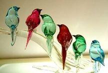 Glas sculpturen