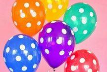 Balões / Leves, alegres, coloridos.