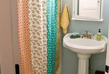 Banheiros - Cortinas de boxes / Decorando o banheiro de forma barata e bonita.