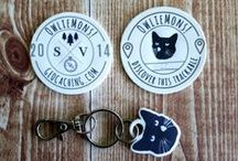Geocaching Signature Swag / Personalized swag for geocaches.
