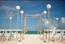 Beach Wedding Ceremony / Aruba, Beach, Sunset, Ceremony, Destination, Wedding, Arch, Set Up, Hyatt, Resort, Honeymoon, Venue, Idea, Floral, Flowers, Love, Romance, Location, Ocean, Couple, Party, Decor