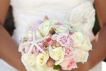 Bouquet & Boutonniere / Tropical, Beach, Wedding, Destination, Bridal, Bouquet, Centerpiece, Decor, Setup, Boutonniere, Flower, Corsage, Ocean, Sunset, Aruba, Hyatt,