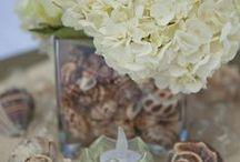 Beach Wedding Centerpieces and Decor / Tropical, Beach, Wedding, Destination, Bridal, Bouquet, Centerpiece, Decor, Setup, Boutonniere, Flower, Corsage, Ocean, Sunset, Aruba, Hyatt,