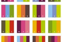 Paletas de Cores / Estudo de cores para não errar no look e nem na decoração